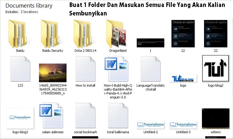 Tata Dan Rapikan Kedalam Sebuah Folder