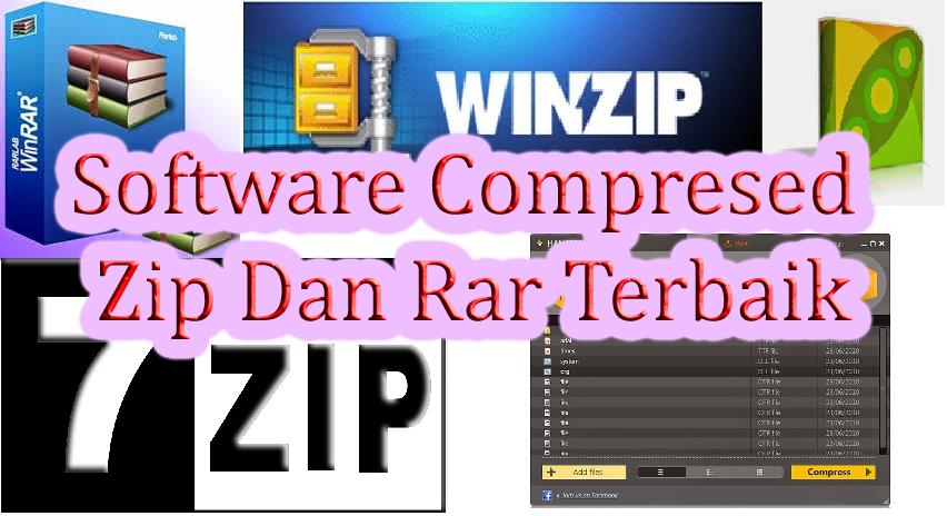 5 Software Compress files Terbaik Gratis Untuk Zip dan Rar