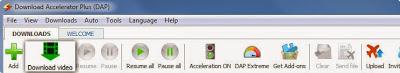 Toolbar Menu Download Accelerator Plus