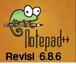 free offline installer Software Notepad++ Terbaru 6.8.6