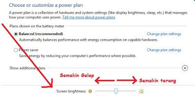 Mengatur Kecerahan Warna Layar Brightnes pada komputer windows