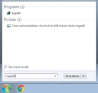 Cara menambahkan shortcut di klik kanan windows
