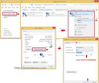 gambar cara merubah password pada windows 8