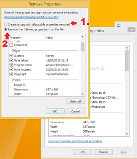 Cara Menghapus Informasi file di properties windows 8
