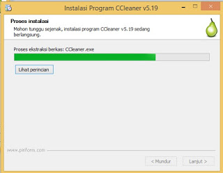 Cara instal Software CCleaner