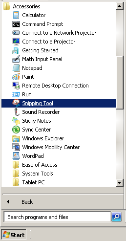 Mengambil Screenshot dengan Snipping Tools