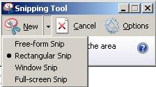 Pilihan Pengambilan Screenshot