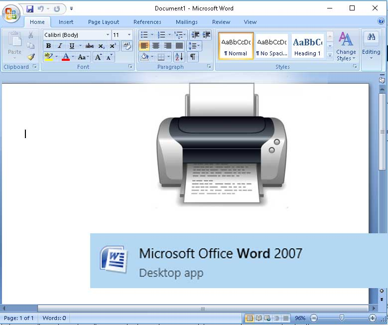 tips mempercepat poses print di office word